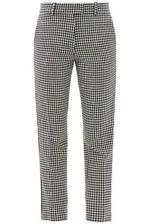 RACIL Aries Cropped Houndstooth-check Tweed Trousers - Womens