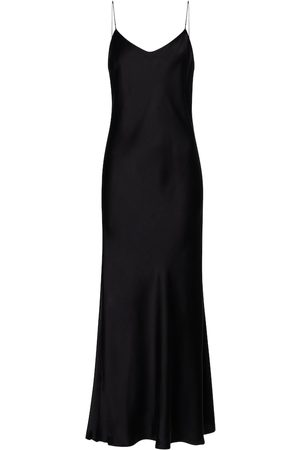 ASCENO Lyon silk satin slip dress
