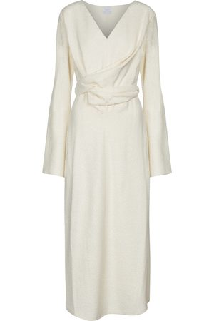 Deveaux New York Yvette wool-blend bouclé midi dress