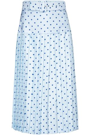 RODARTE Polka-dot high-rise silk midi skirt