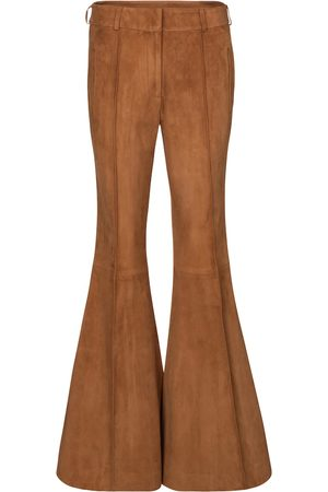 Khaite Charles suede flared pants