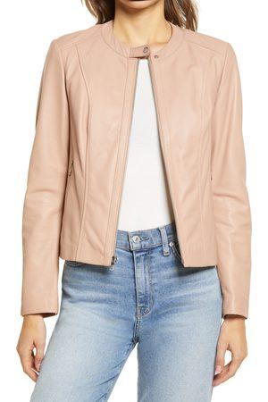Cole Haan Women's Leather Zip Front Jacket