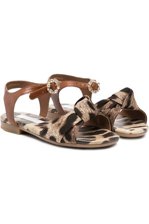 Dolce & Gabbana Animal print open-toe sandals - Neutrals