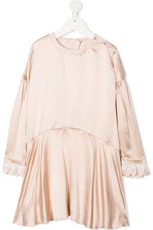 Chloé Spot patterned silk dress - Neutrals