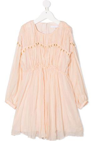 Chloé Pleated silk dress - Neutrals