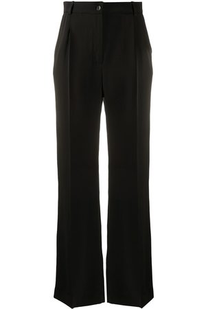 La Collection Wide leg tailored silk trousers
