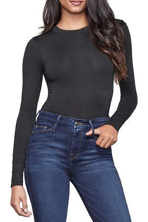 GOOD AMERICAN Women Bodies - The Crewneck Long Sleeve Bodysuit