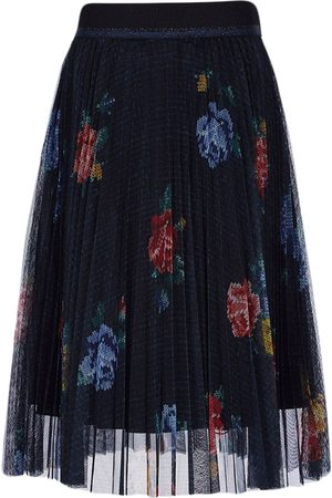 Lapin House Floral-print tulle skirt
