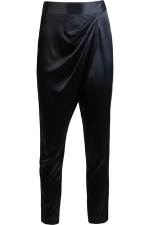 Michelle Mason Draped-detailing slim-fit trousers