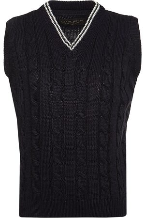 Lapin House V-neck cable knit gilet