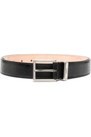 Alexander McQueen Men Belts - Skull-motif square-buckle adjustable belt