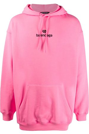 Balenciaga Men Hoodies - Logo-embroidered hoodie