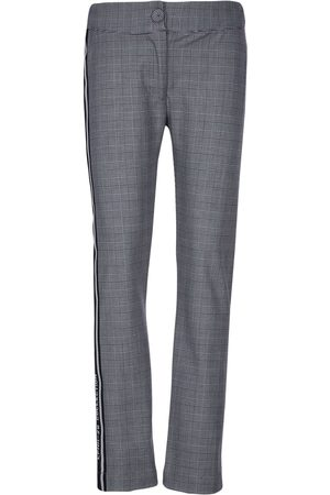 Lapin House Check print straight leg trousers - Grey