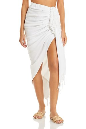 Just BEE Queen Women Skirts - Tulum Ruched Fringed Skirt