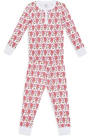 Roller Rabbit Unisex Monkey Pajama Set - Little Kid, Big Kid