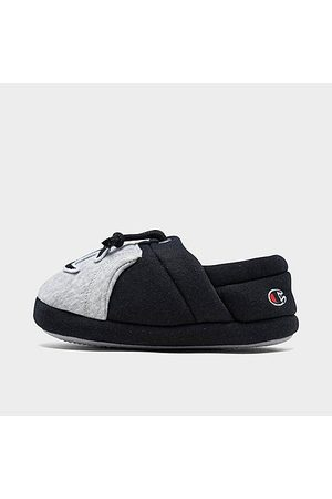 Champion Boys' Toddler University II Colorblock Slippers in Grey Size 5.0 Knit/Jersey