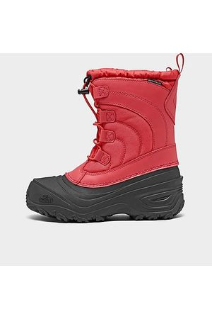 The North Face Girls' Little Kids' Alpenglow IV Winter Boots in Size 1.0 Leather/Nylon/Lace