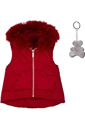 Lapin House Faux fur trim hooded gilet