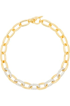Kenneth Jay Lane Crystal-embellished chain-link necklace