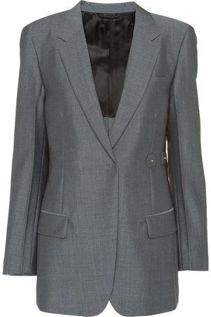 Prada Asymmetric button blazer - Grey