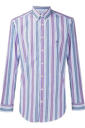 Etro Men Long sleeves - Long sleeved stripe shirt