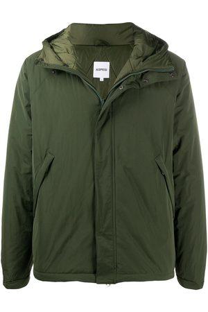Aspesi Drawstring-hood rain jacket