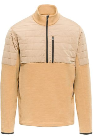 Aztech Smuggler shell-panelled fleece pullover - Neutrals