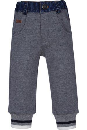 Lapin House Boys Sweatpants - Denim panelled track trousers - Grey