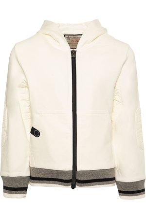Lapin House Eastern station zip-front hoodie - Neutrals