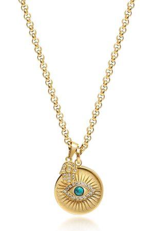 Nialaya Men Necklaces - Evil Eye pendant necklace