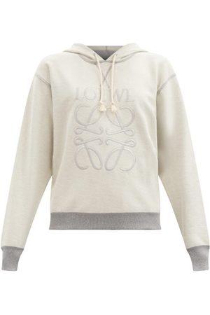 Loewe Anagram-embroidered Cotton-jersey Sweatshirt - Womens - Grey
