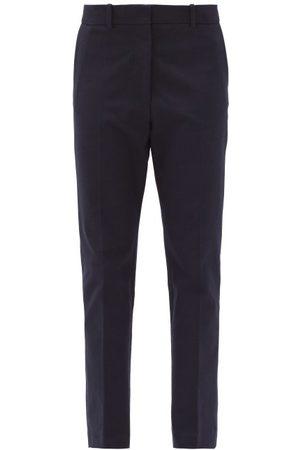 Joseph Women Formal Pants - Coleman Straight-leg Gabardine Trousers - Womens - Navy