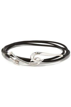 SHAUN LEANE Hook Sterling- And Leather Bracelet - Mens