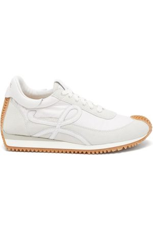 Loewe Women Sneakers - Flow Runner Shell And Suede Trainers - Womens