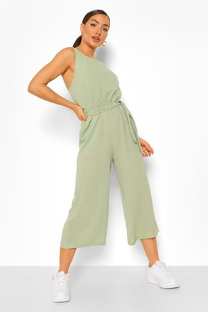 Boohoo Womens Woven Sleeveless Culotte Jumpsuit - - 4
