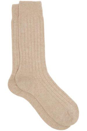 Pantherella Waddington Rib-knitted Cashmere-blend Socks - Mens