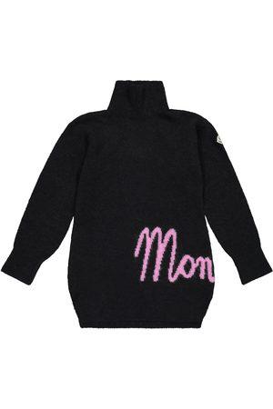 Moncler Logo wool and alpaca-blend dress