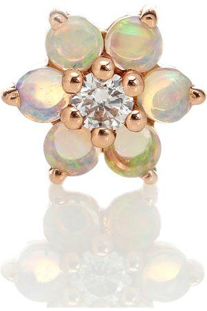 Maria Tash Women Earrings - Garland 18kt rose single earring with opal and diamond