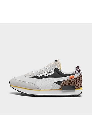 PUMA Women's Future Rider Wildcats Animal Print Casual Shoes in Grey