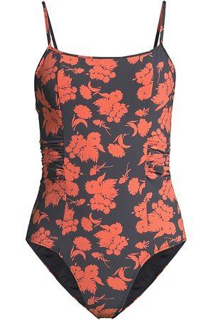 Ganni Women's Scoopneck One-Piece Swimsuit - - Size 34 (0)