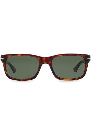Persol Men's 58MM Rectangle Sunglasses - Havana
