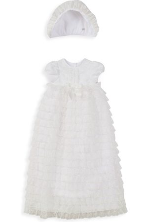 Pippa & Julie Baby's 2-Piece Tiered Lace Christening Gown - - Size 0-3 Months