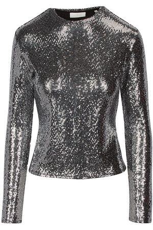 7 for all Mankind Women's Long-Sleeve Sparkle Top - - Size Small