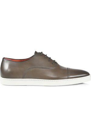 santoni Men's Durbin Leather Loafers - - Size 13 D