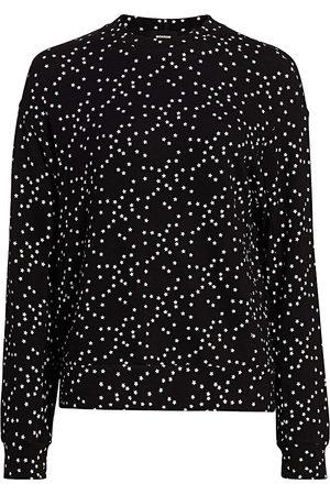 MONROW Women's Stardust Crewneck Sweatshirt - - Size Large