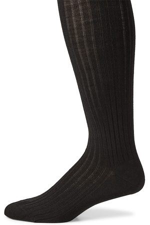 Marcoliani Men's Ribbed Merino Wool Blend Socks