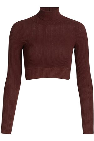 NSF Women's Bridget Crop Turtleneck Top - - Size XS