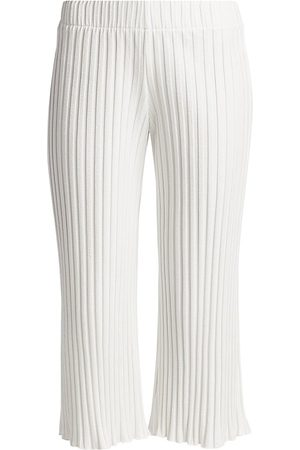 SIMON MILLER Women's Alder Ribbed Cropped Pants - - Size Small