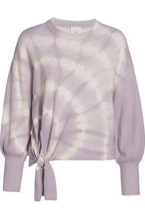 Cinq A Sept Women's Clerisa Tie-Dye Merino Wool & Cashmere Sweater - - Size XL