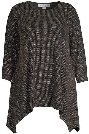 Caroline Rose Women's Dazzling Dot Knit Swing Tunic - - Size 2X (18-20)